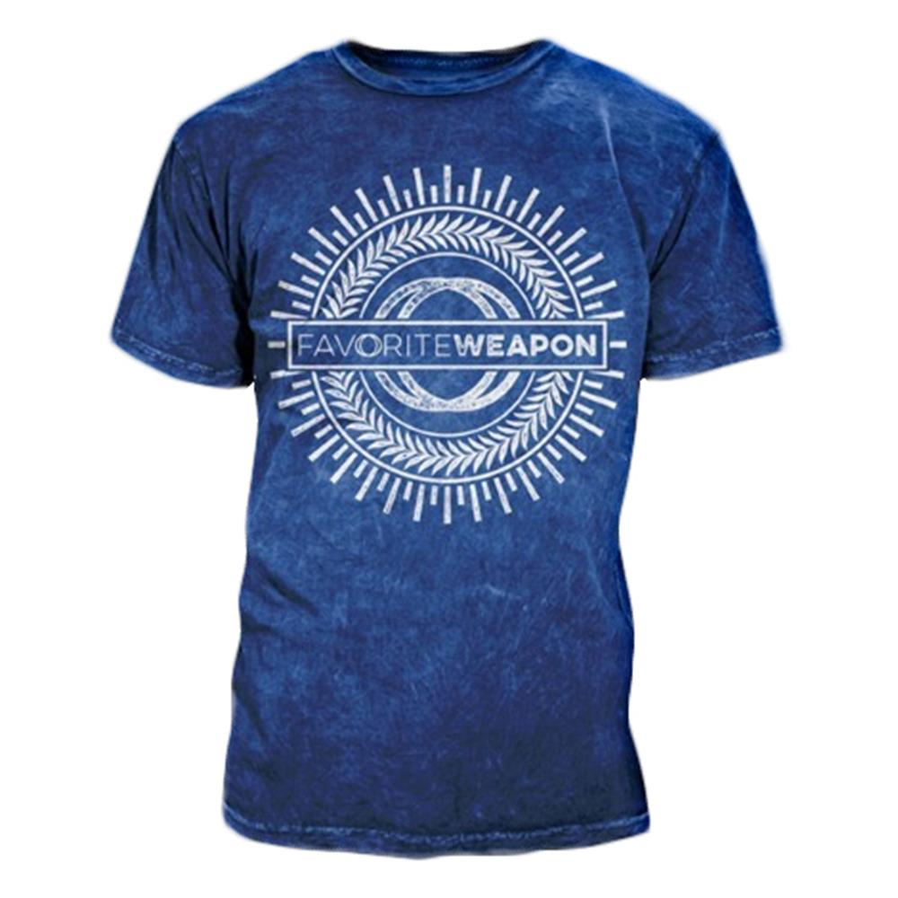 Circles Navy Mineral Wash T-Shirt