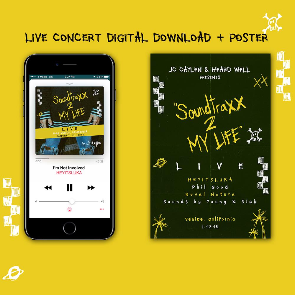 SoundtraXX 2 My Life LIVE + SIGNED Poster