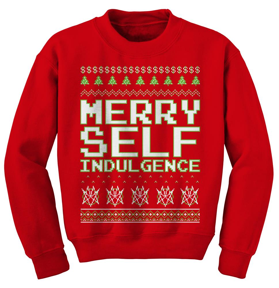 Merry Self Indulgence Red Crewneck