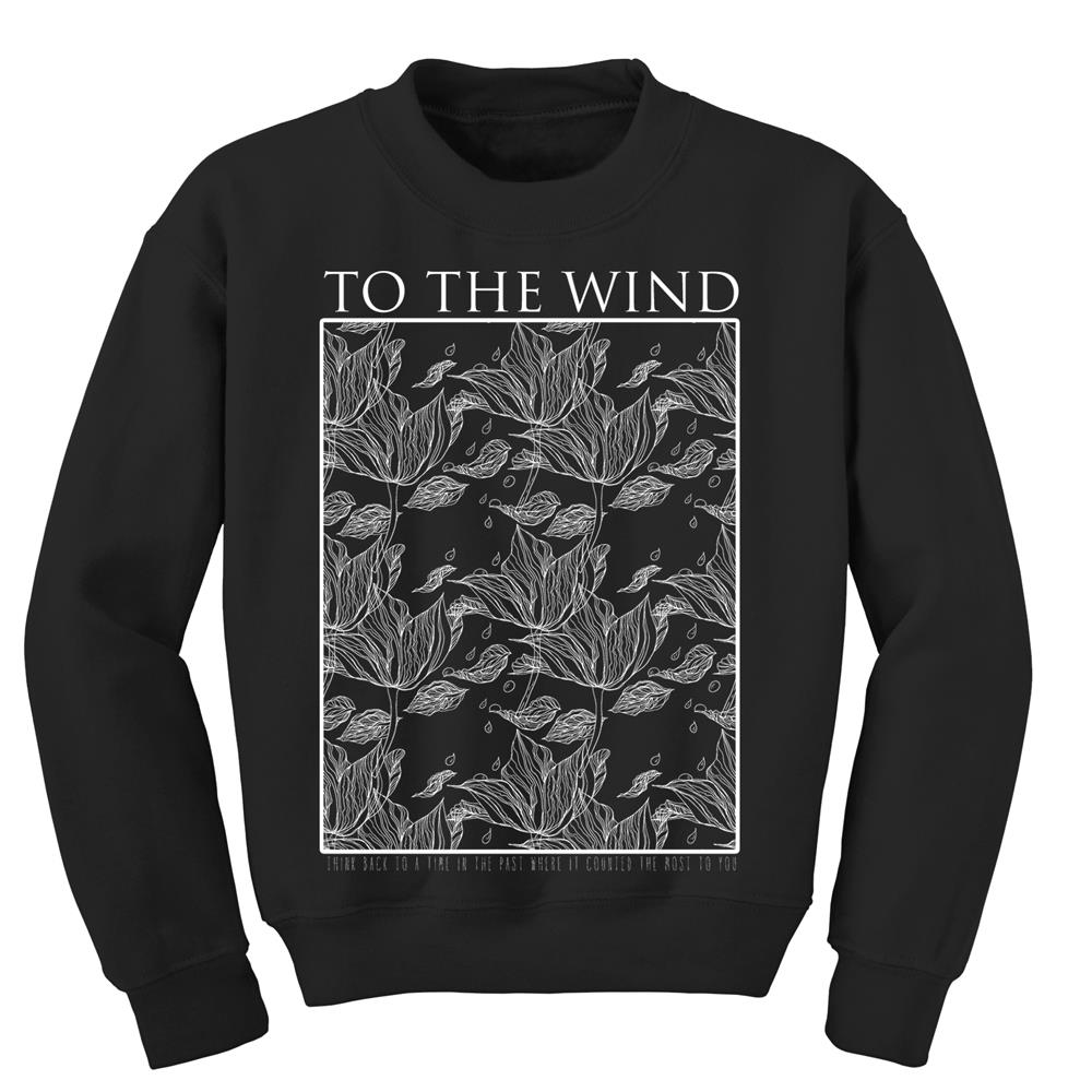 Sketch Flower Black Crewneck