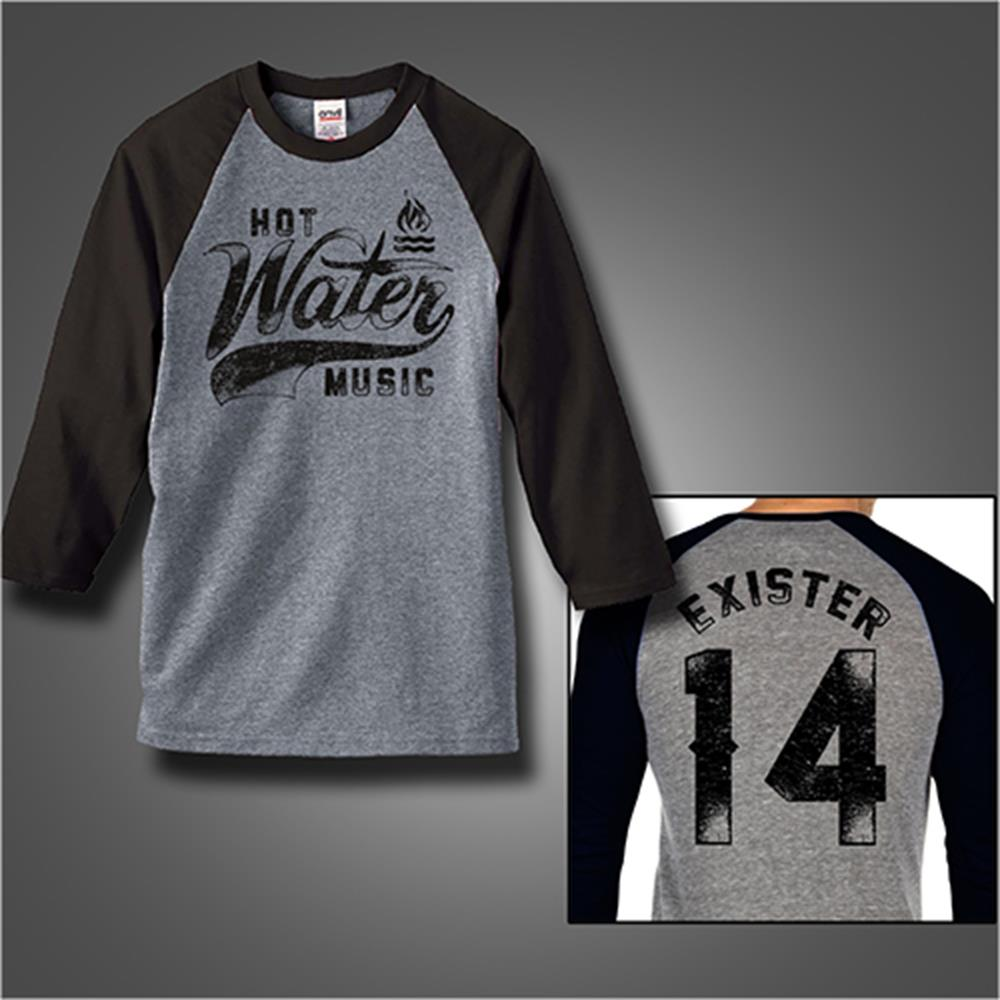 Exister 14 Black/Heather Grey Baseball Shirt