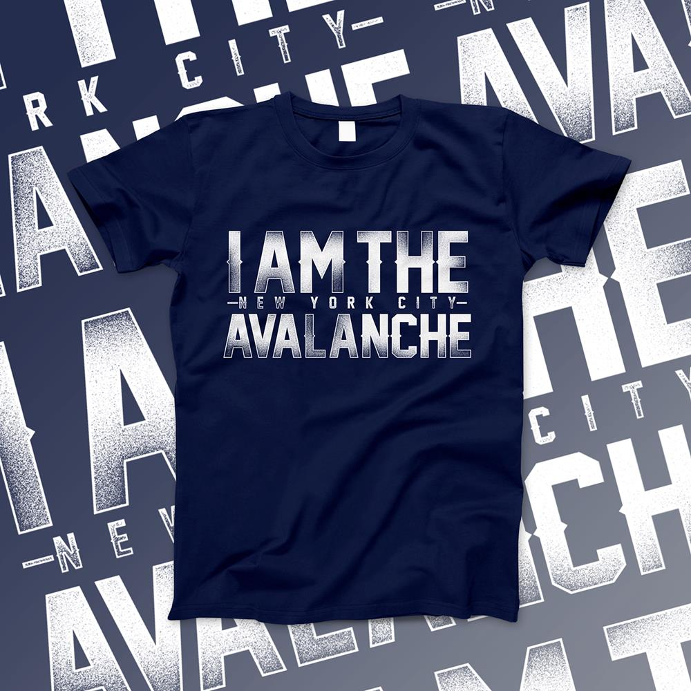 I Am The Avalanche Logo  Navy XX-Large