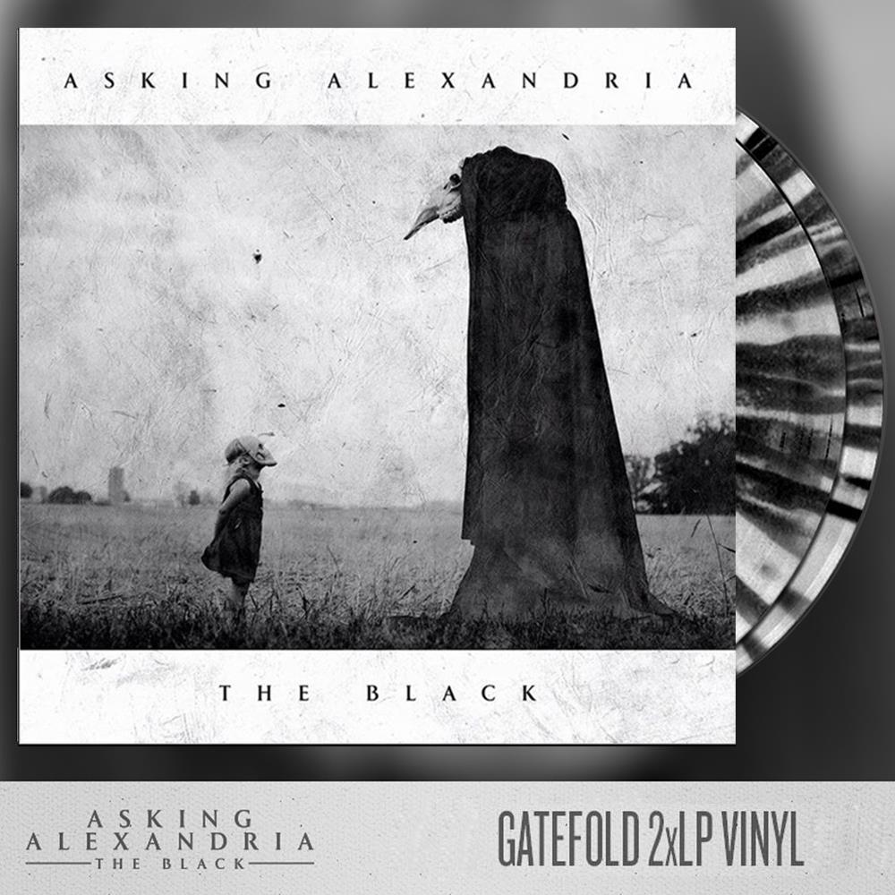 The Black White With Black Splatter