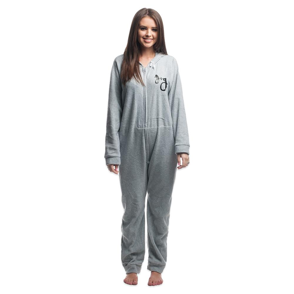 Logo Heather Grey Onesie