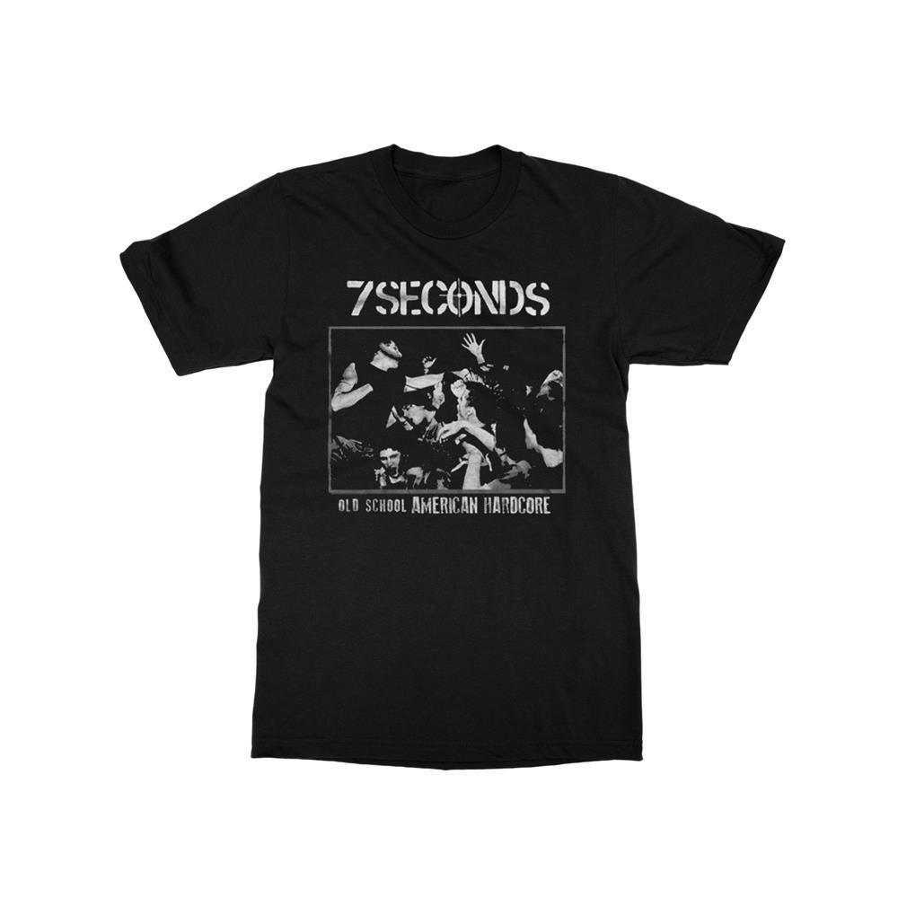 Old School American Hardcore Black T-Shirt