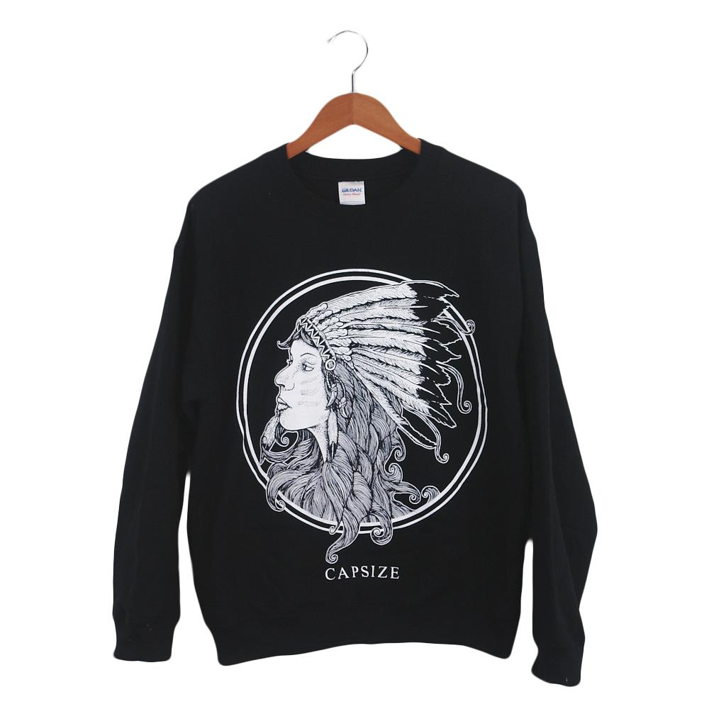 Girl Black Crewneck