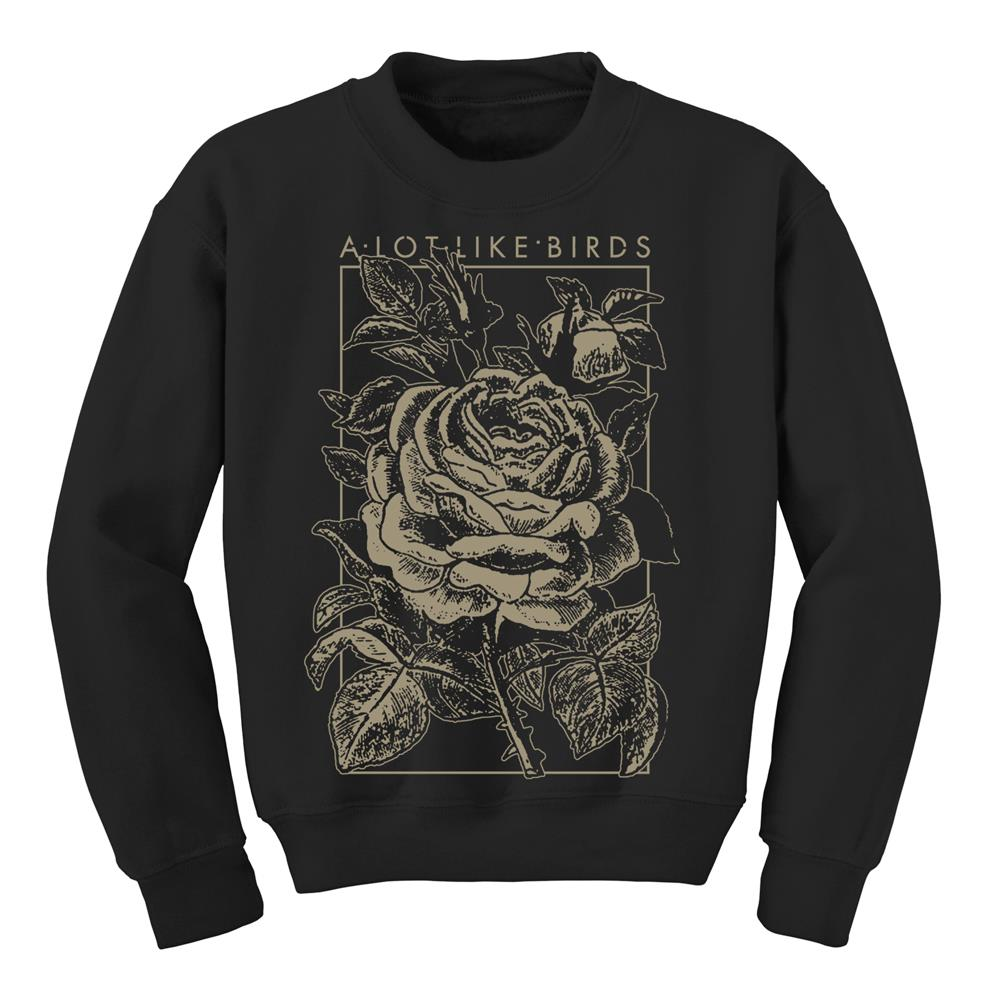 Flower Black Crewneck