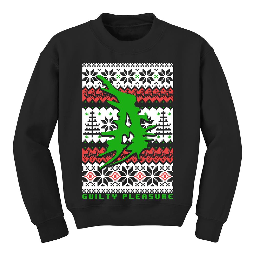 Guilty Pleasure Black Ugly X-Mas Sweater Crewneck