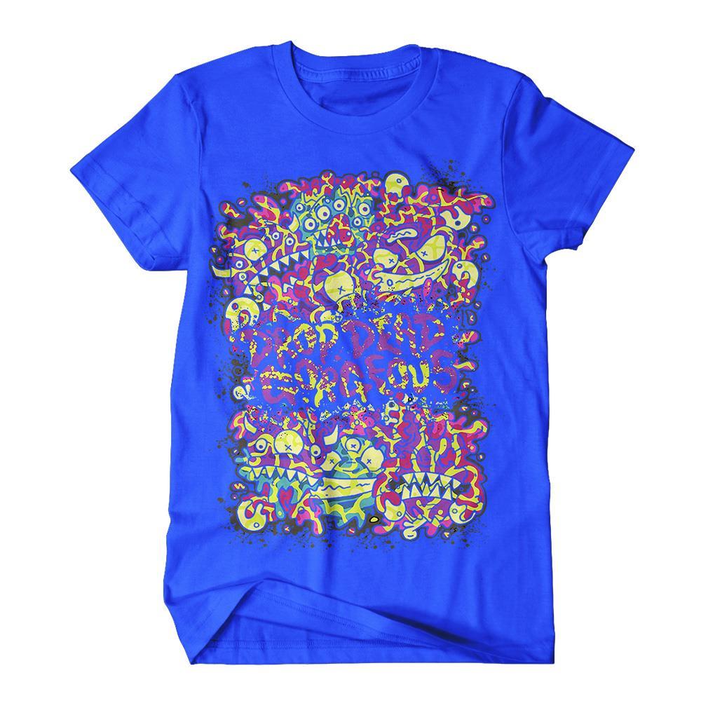 Monster Faces Blue **Sale! Final Print!**