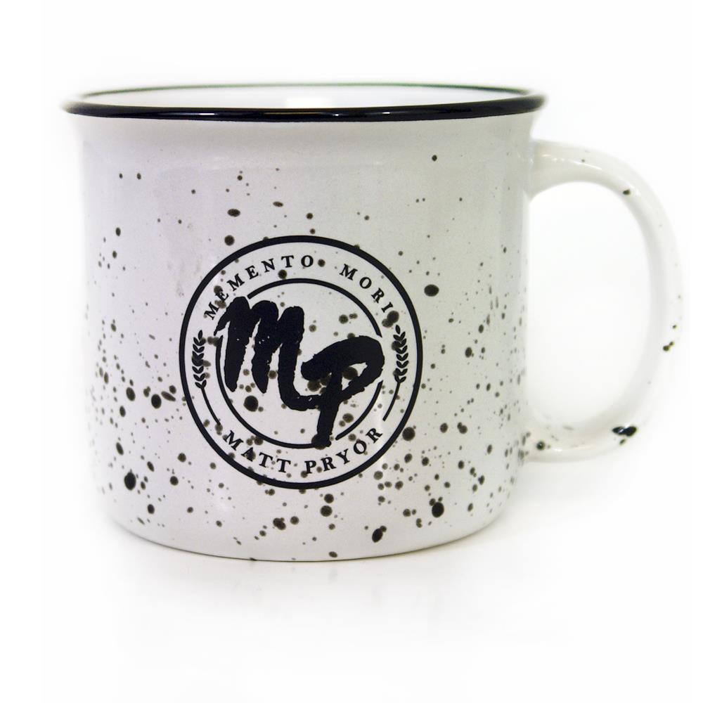 Kansas White With Black Speckle Camp Mug