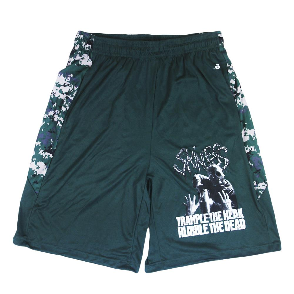 Trample Forest Green Digital Camo Shorts