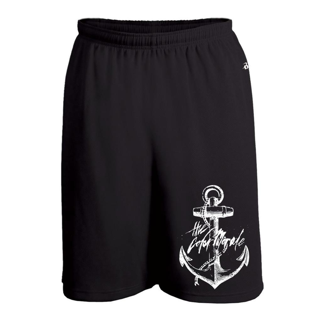 White Anchor On Black