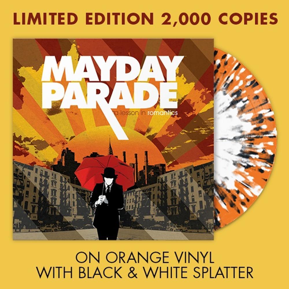 A Lesson In Romantics Orange W/ Black & White Splatter Vinyl