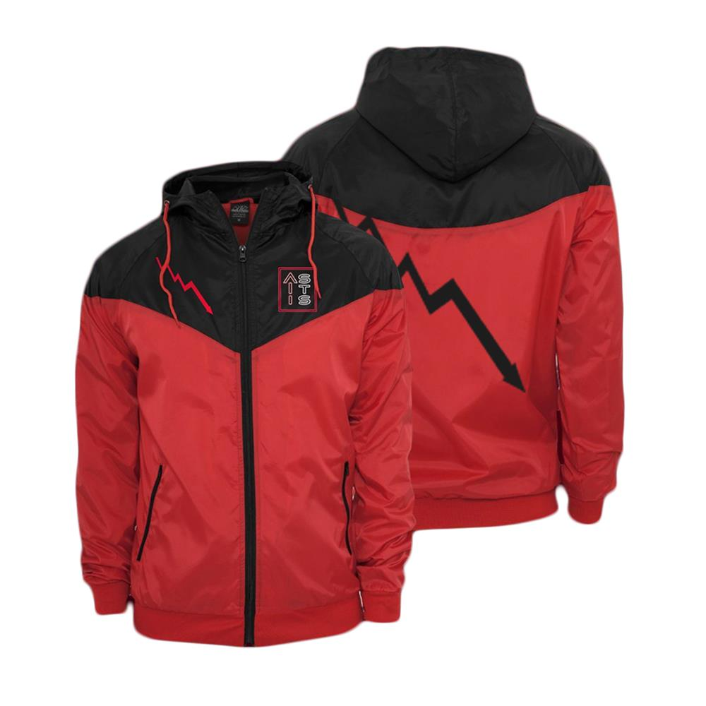 Bolt Red/Black Custom Windbreaker