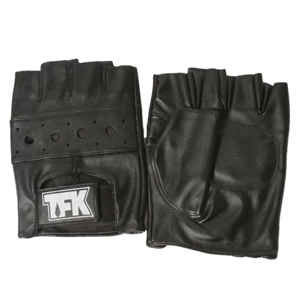 TFK Outline Logo Black Fingerless Gloves