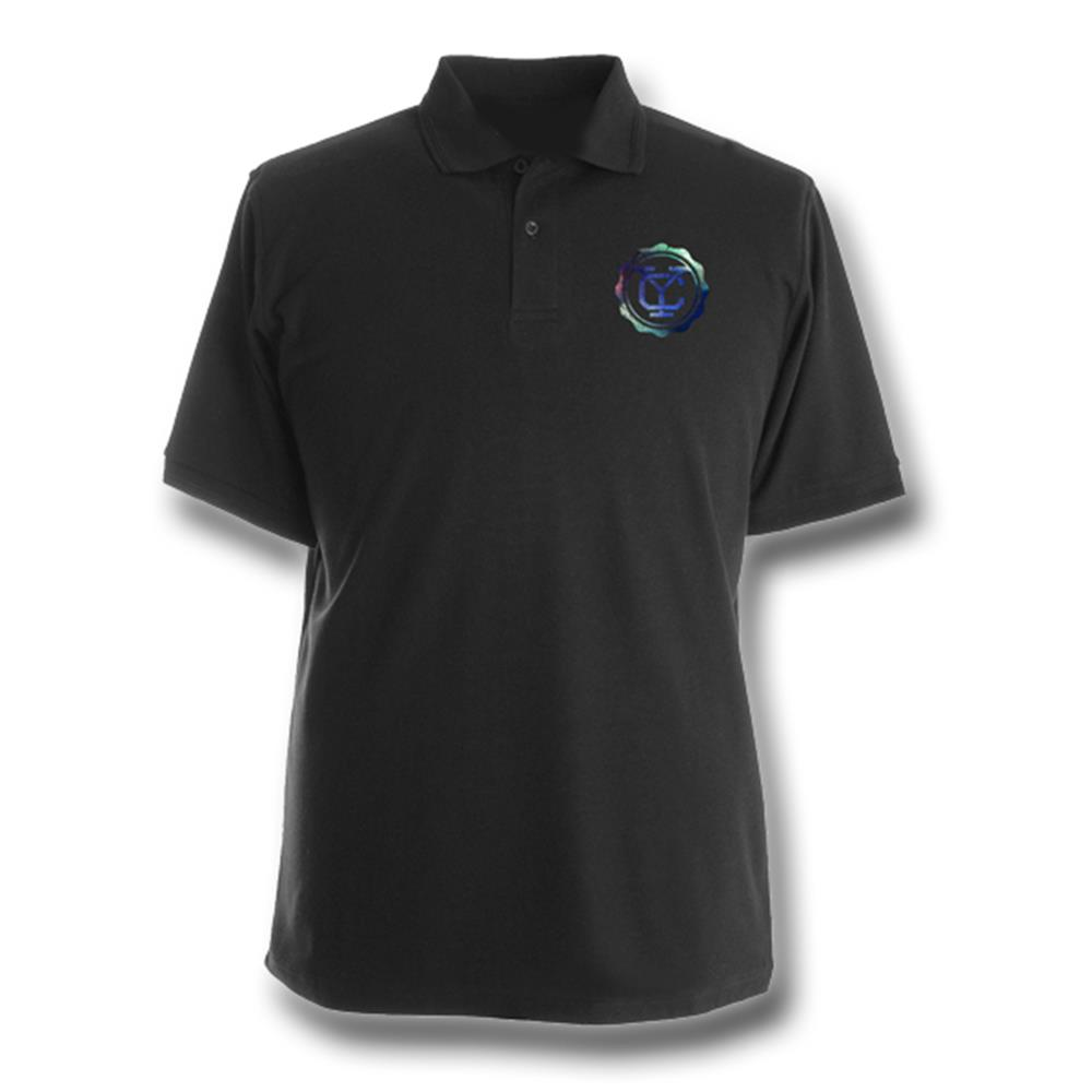 Yellowcard - Colorful Logo Black Polo