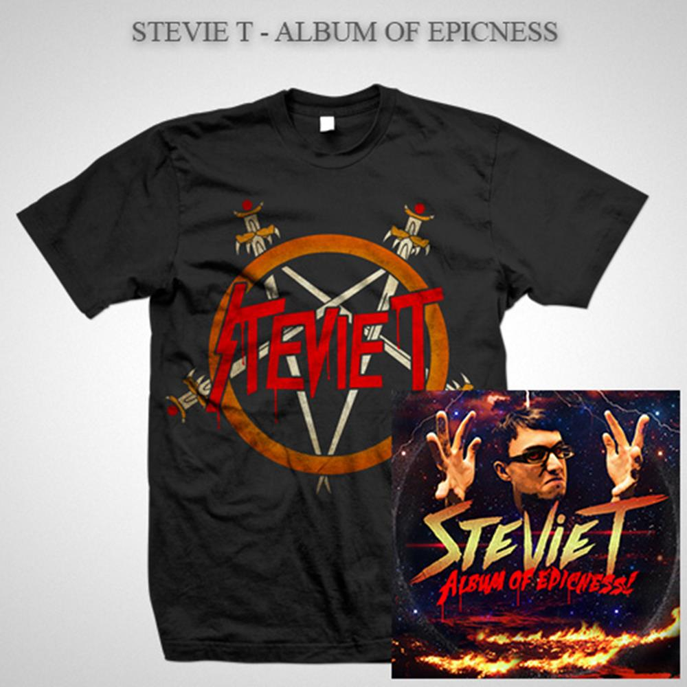 Album Of Epicness Pentagram T-Shirt + Digital Download Bundle