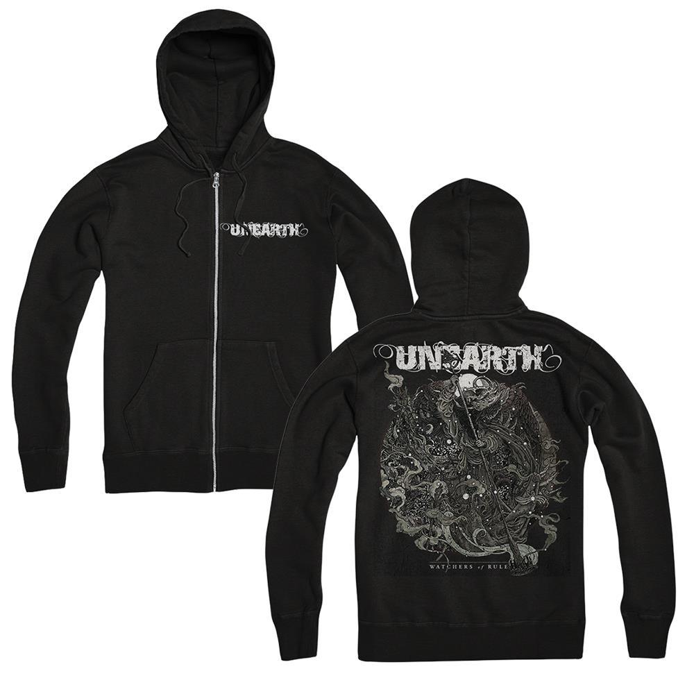 Watchers Circle Black Zip-Up Sweatshirt