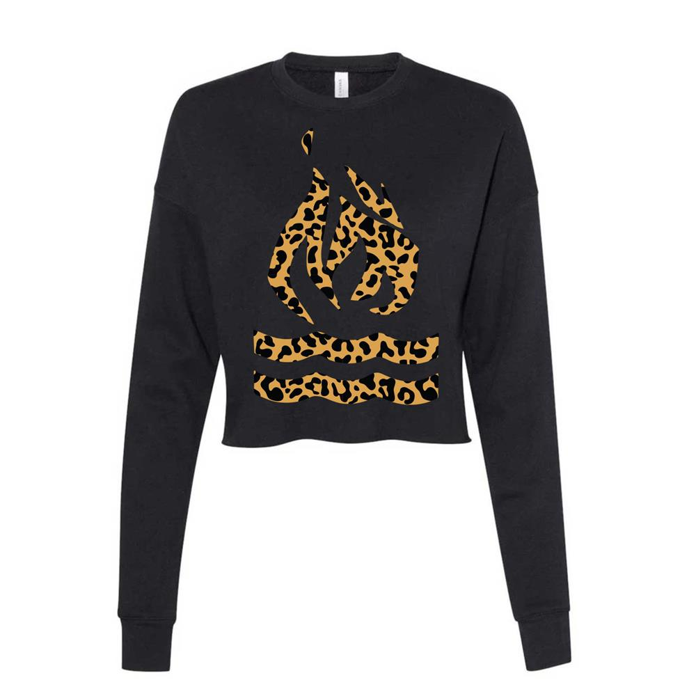 Leopard Traditional Cropped Ladies Black