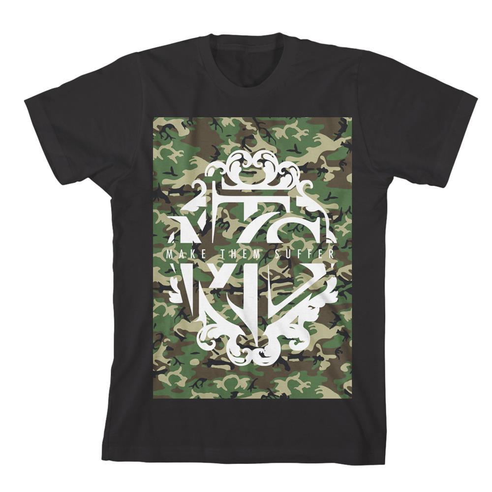 Camo Logo Black T-Shirt