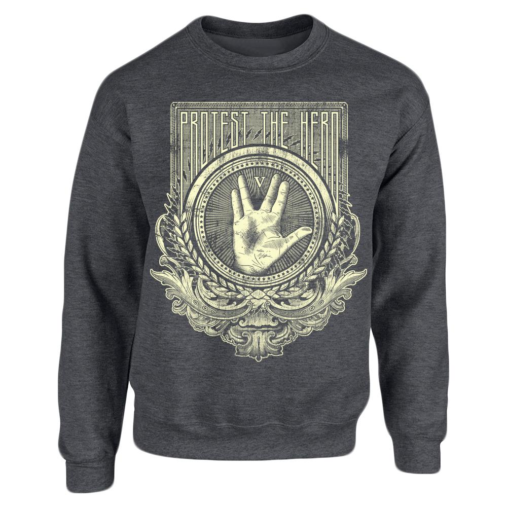 Trek Hand Dark Heather Crewneck