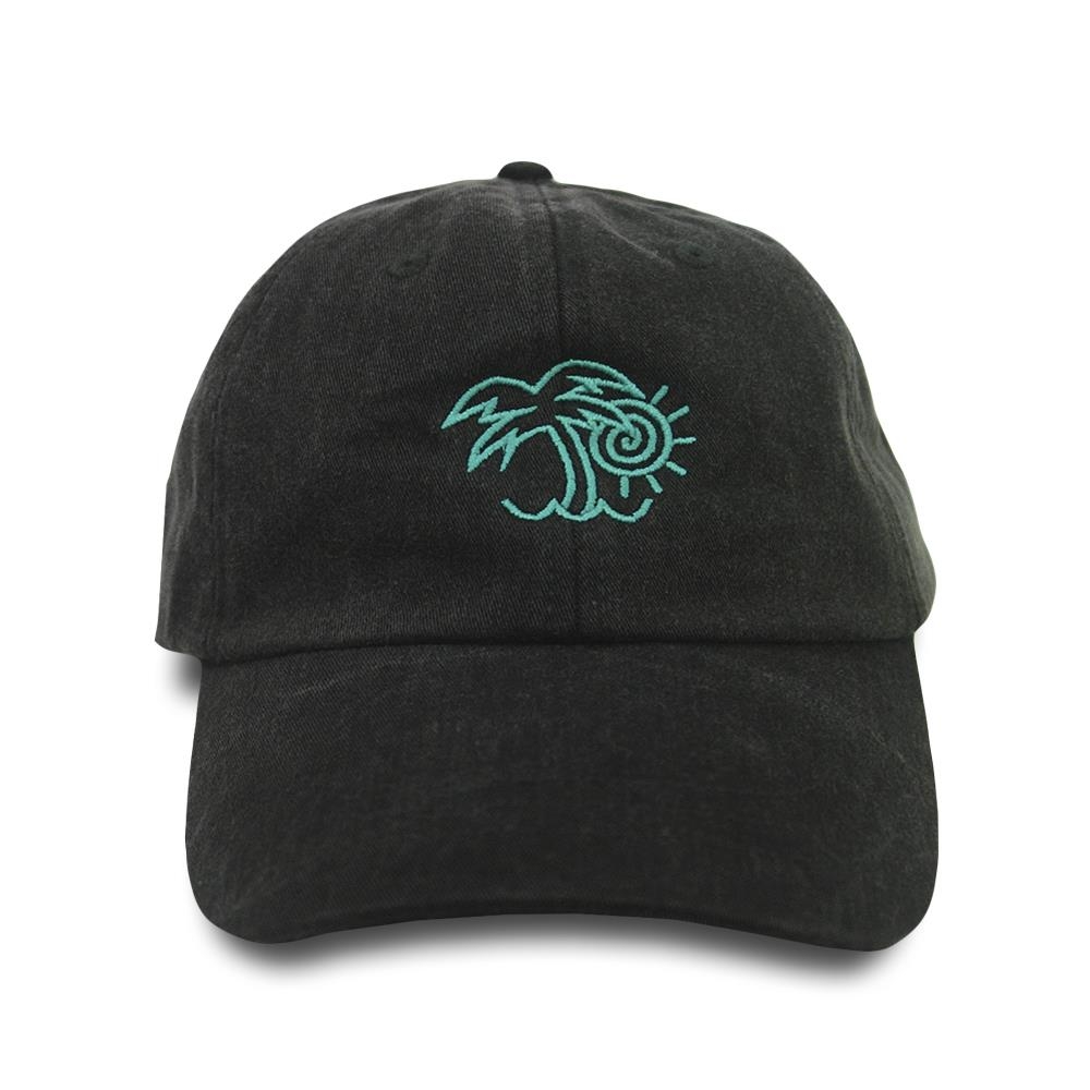 Palm Tree Black Dad Hat