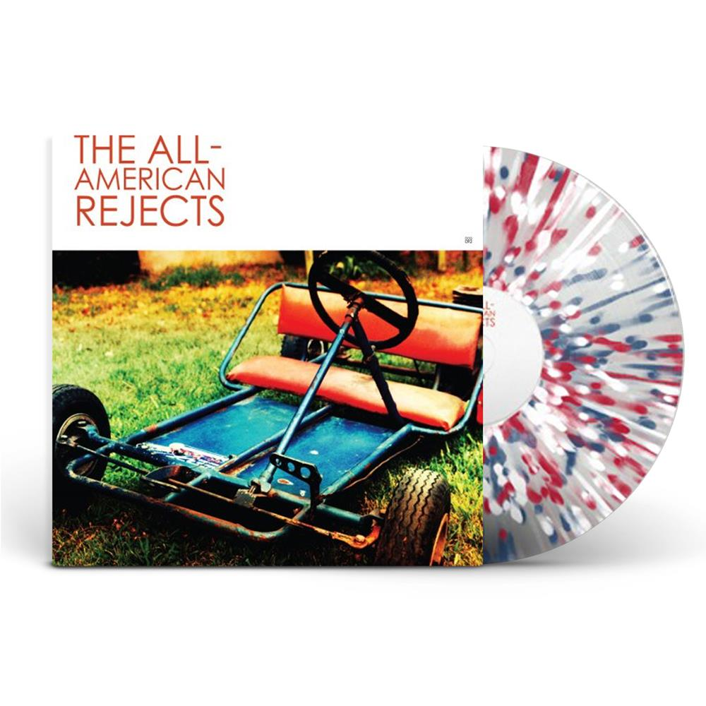 The All American Rejects - Self Titled Clear with Red/White/Blue Splatter - Vinyl LP