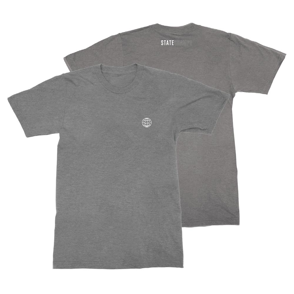 Worldwide Embroidered Heather Grey
