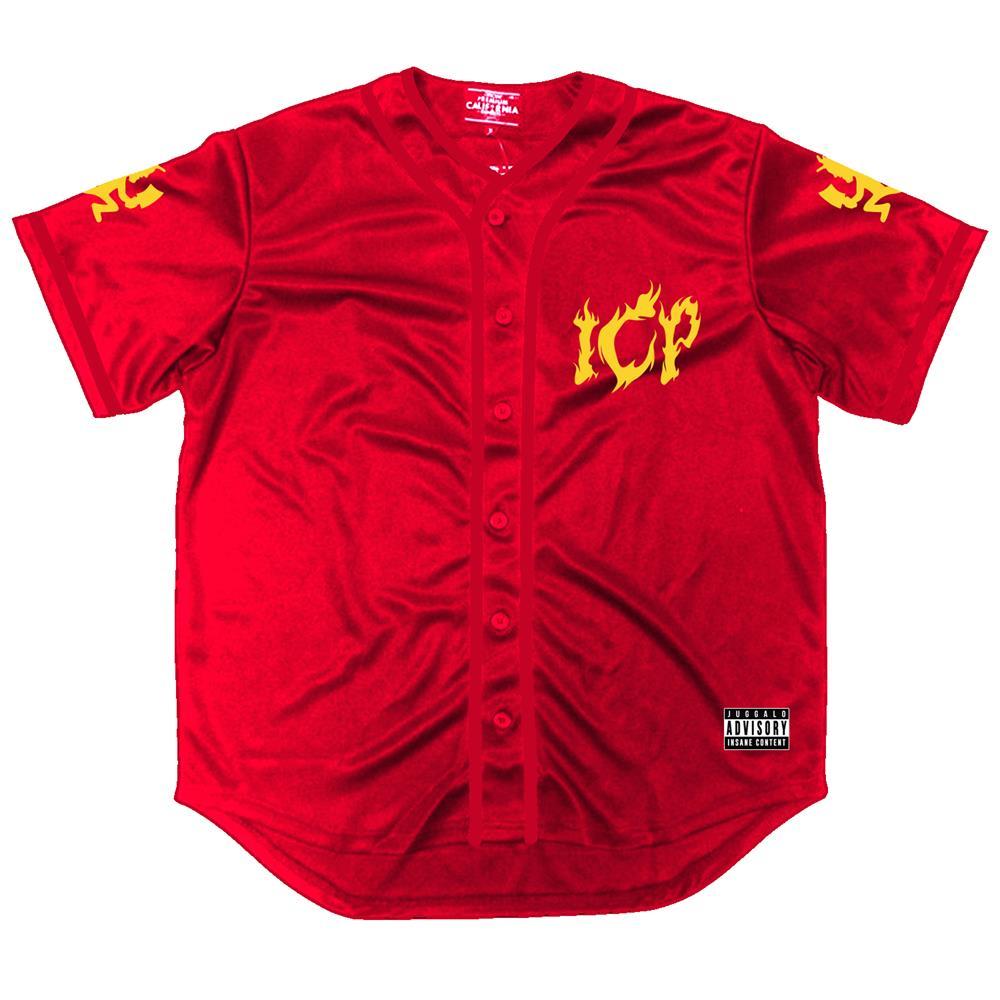 Flames Red Baseball