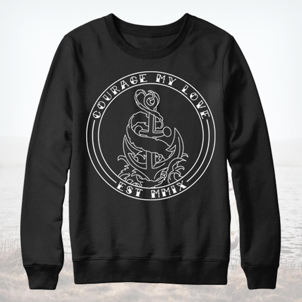 Anchor Black Crewneck
