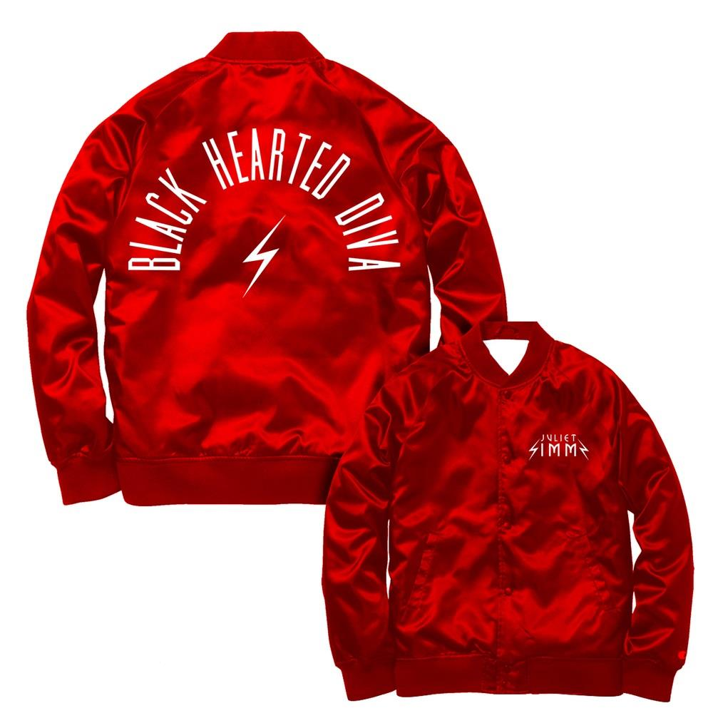 Lightning Bolt Red Satin