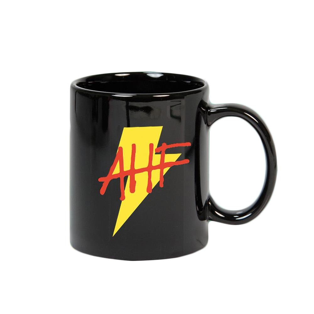 Lightning Bolt Black Coffee Mug