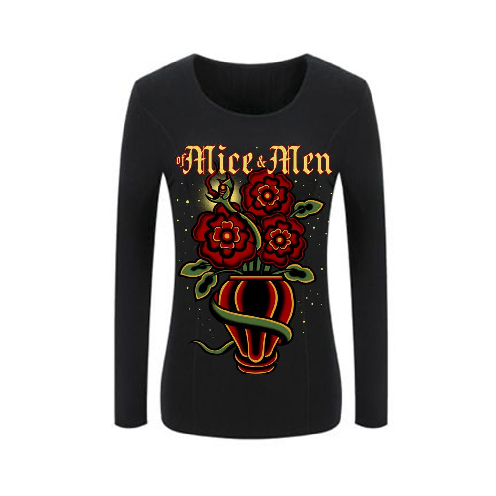 Roses Black JRS/Girls Thermal
