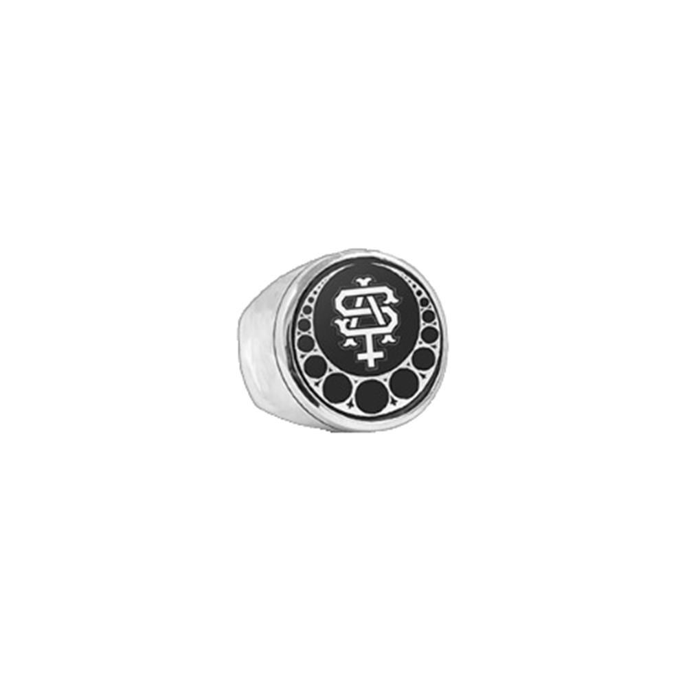Team Logo Polished Nickel Ring