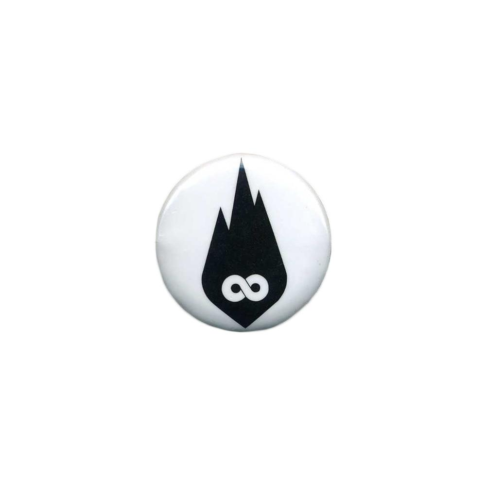 Black Infinity Flame Logo White
