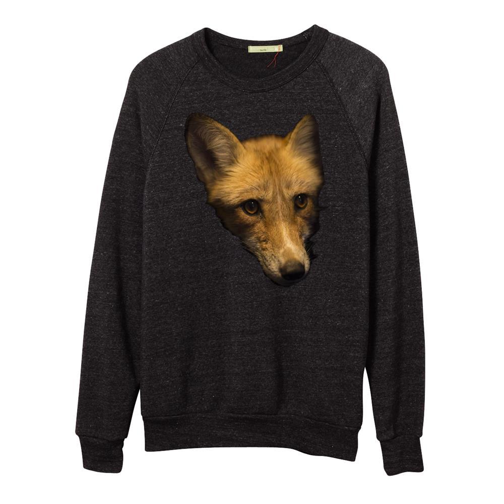 VS Fox Eco Black Raglan Crewneck