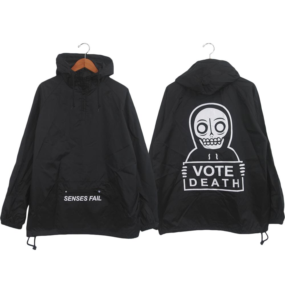 Vote Death Black Pullover Windbreaker