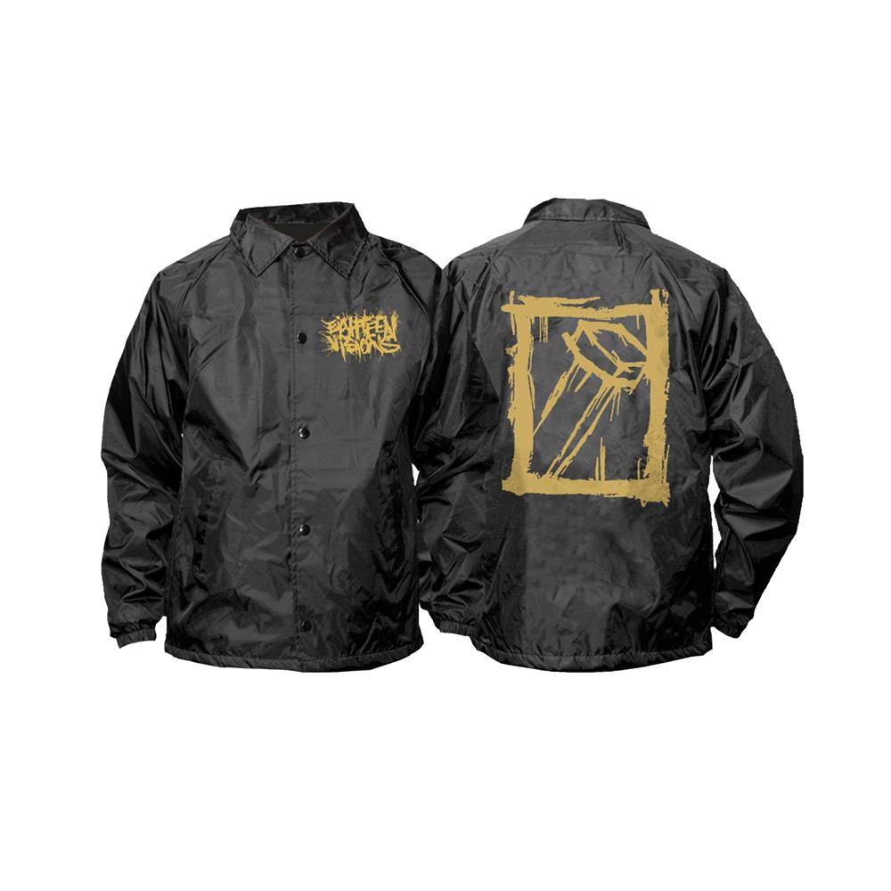Nail Gold Logo Black Windbreaker