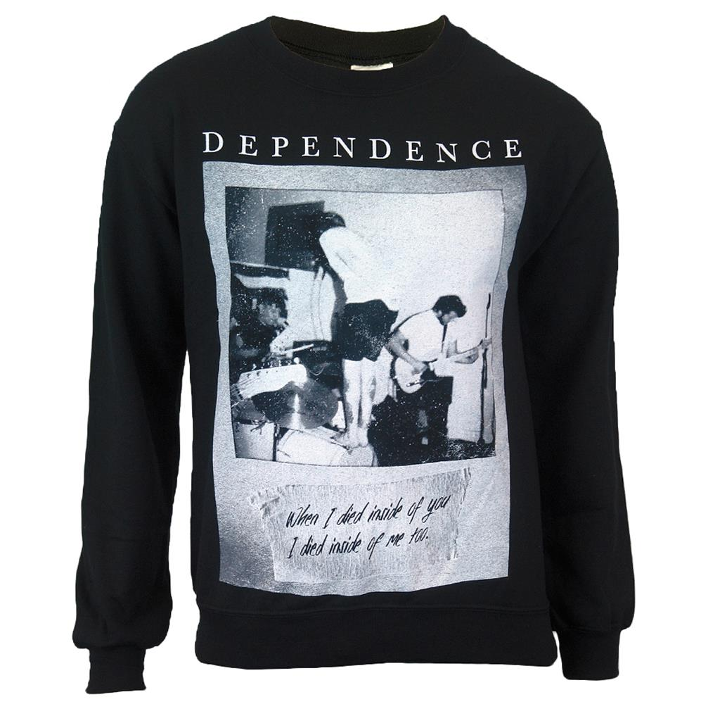 Live Photo Black Crewneck Sweatshirt