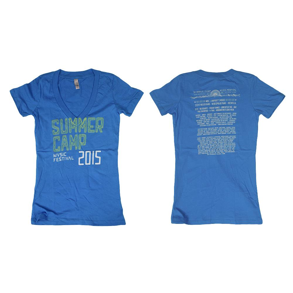 2015 Tour Blue V-Neck