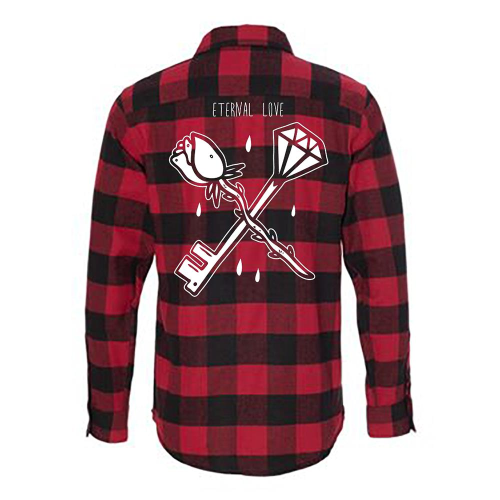 Eternal Love Red/Black Flannel Shirt