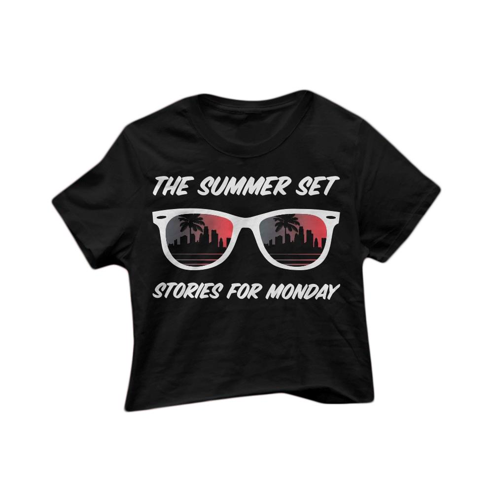 Sunglasses Black Crop Top