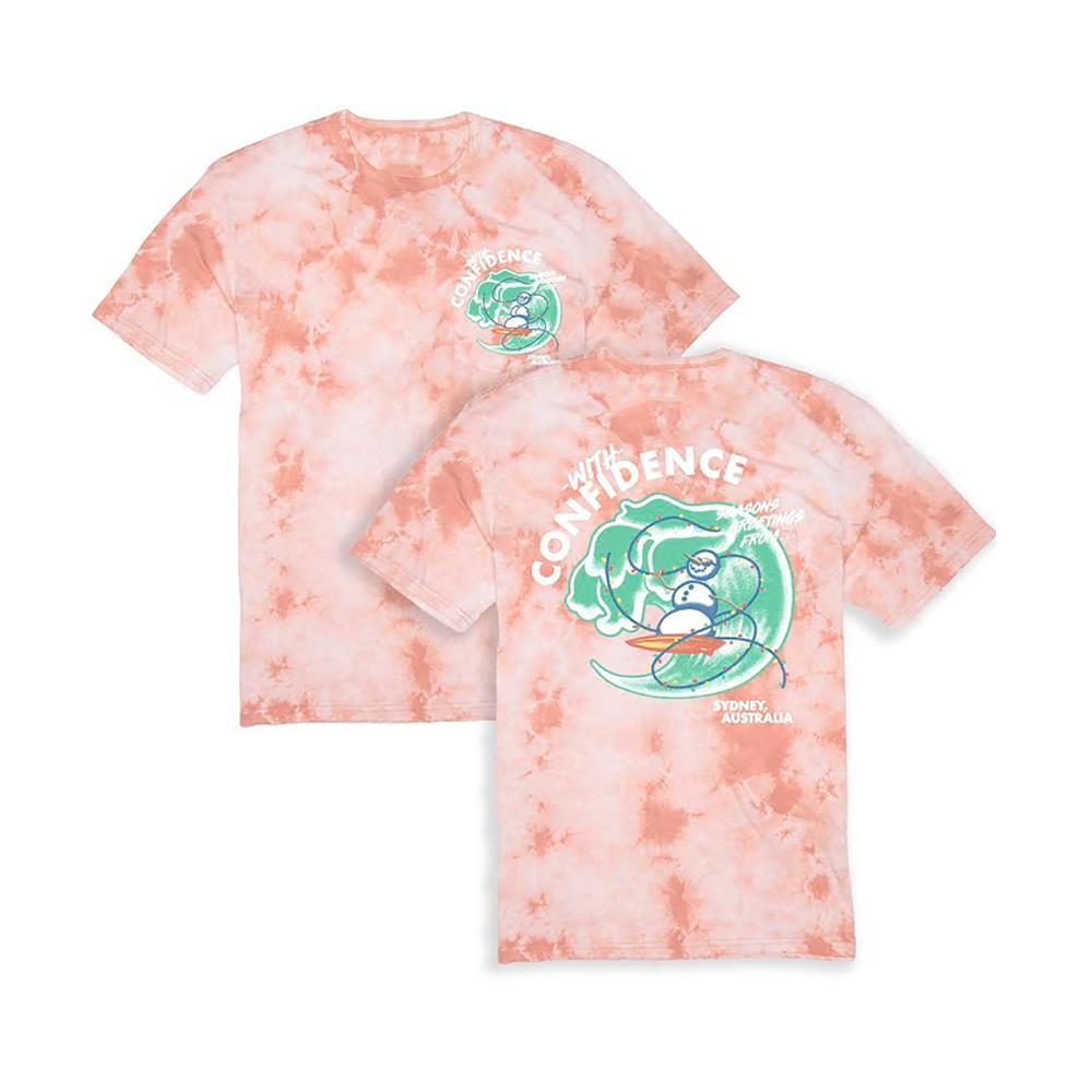 Seasons Greetings Peach Crystal Wash