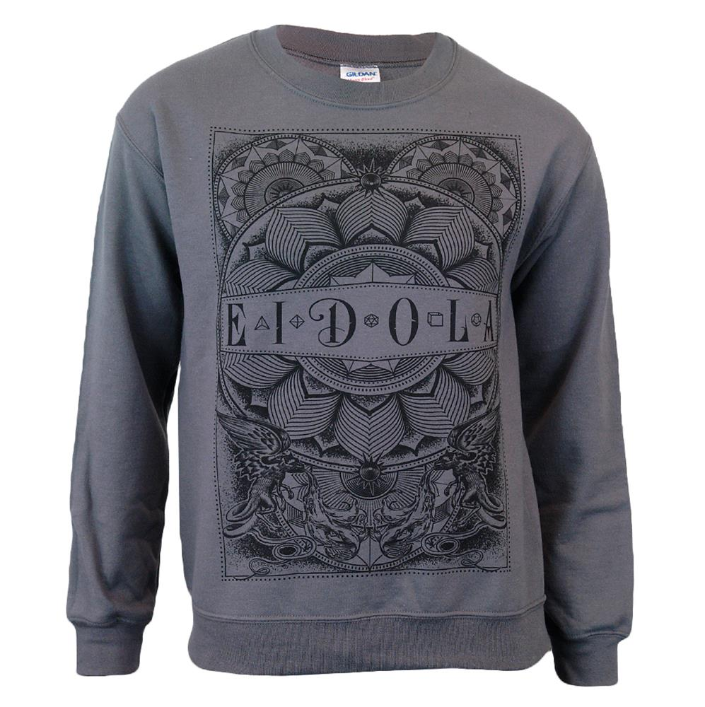 Mandala Light Gray Crewneck Sweatshirt