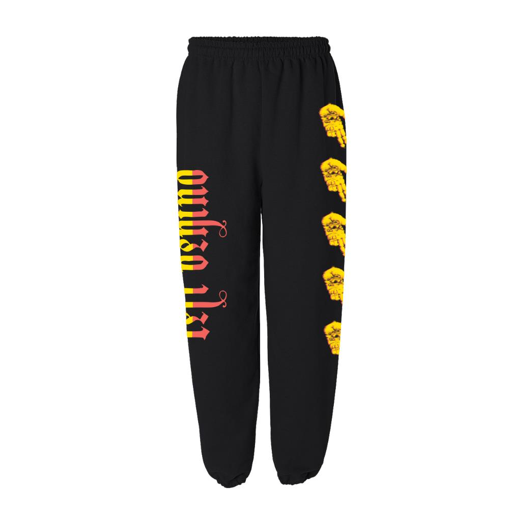 Seeing Hell Black Sweatpants