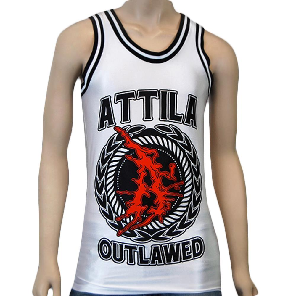 Outlawed White/Black Basketbll Jersey