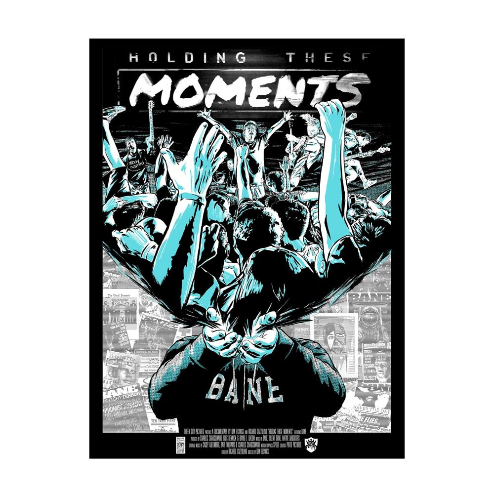 Holding These Moments Teal 18X24 Screen Printed