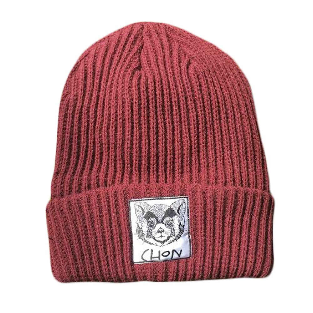 Raccoon Red Patch Beanie