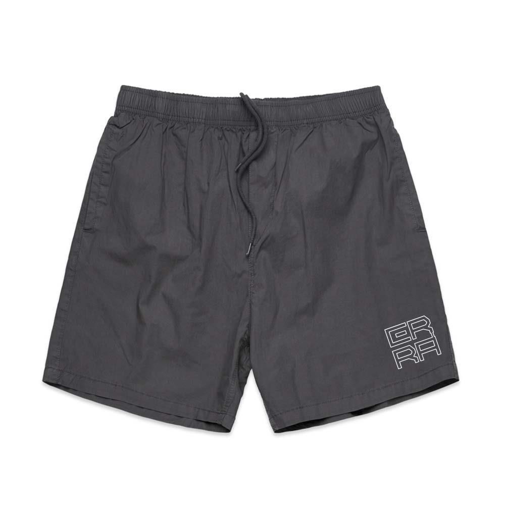Square Logo Grey Stone Shorts