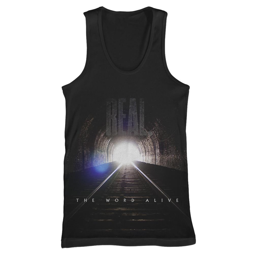REAL. Album Art Black Tank Top